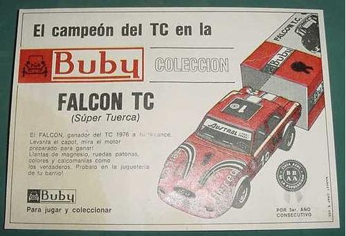 clipping recorte publicidad autos buby falcon tc - manchada