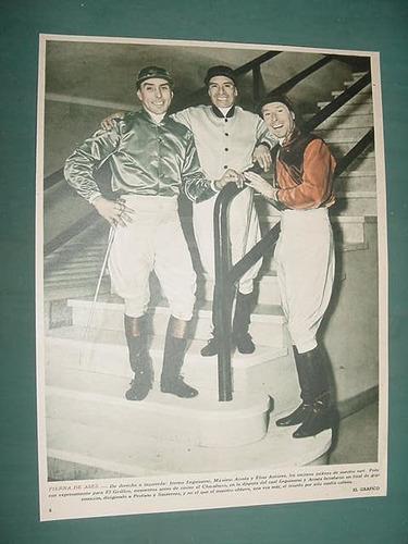 clipping turf caballos 1941 irineo leguizamo acosta antunez