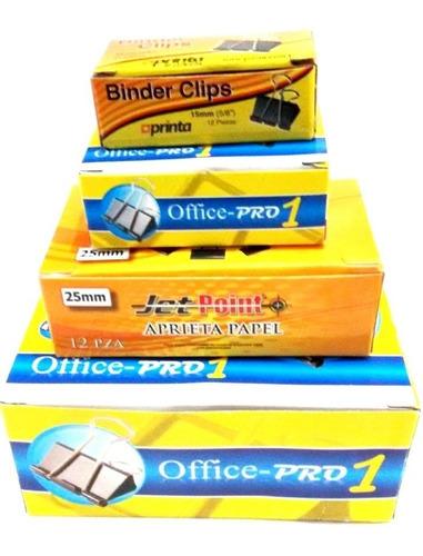 clips binder por cajas de 12 ganchos sujeta papel