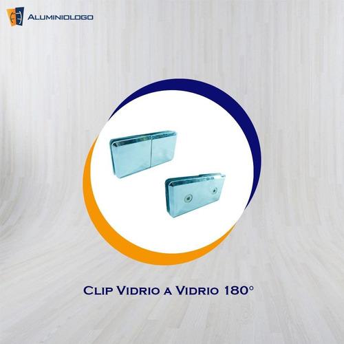 clips de 180 grados para vidrio a vidrio