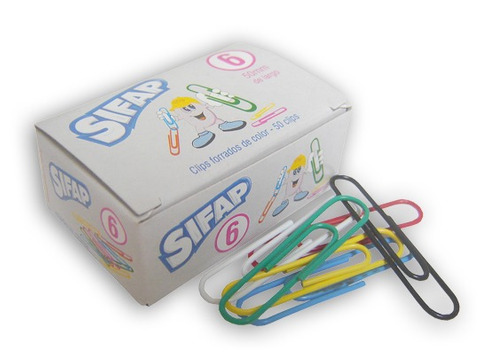 clips nº 6 sifap o mit forrados caja x50 olami