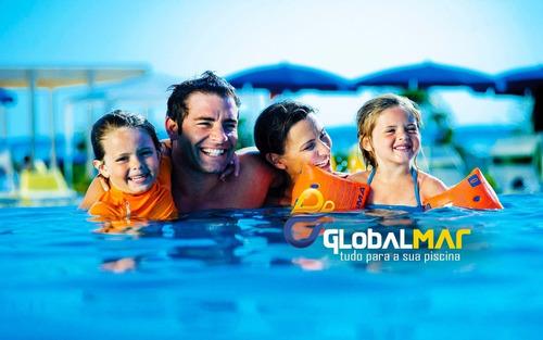 clorador flutuador pace p/piscina de alvenaria, fibra, vinil
