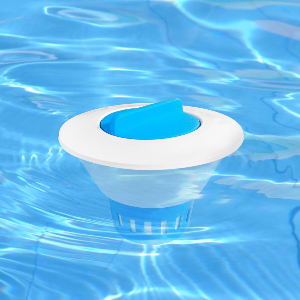 Clorador flutuador tratamento piscinas pastilha cloro for Cloro piscina