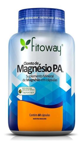 cloreto de magnésio p a 60 cápsulas fitoway tapiocaps
