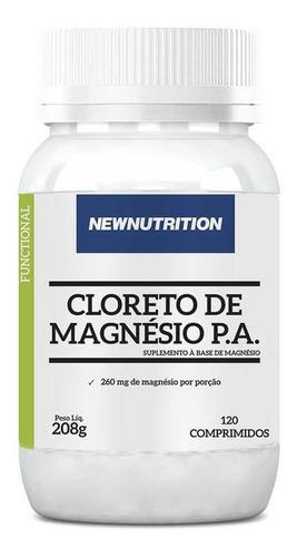 cloreto de magnésio p.a. 120 comprimidos newnutrition
