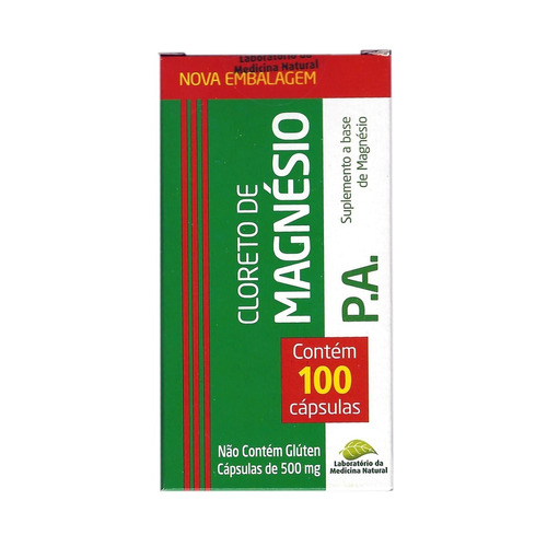 cloreto de magnésio pa 3 x 100 cáps 500mg - medicina natural