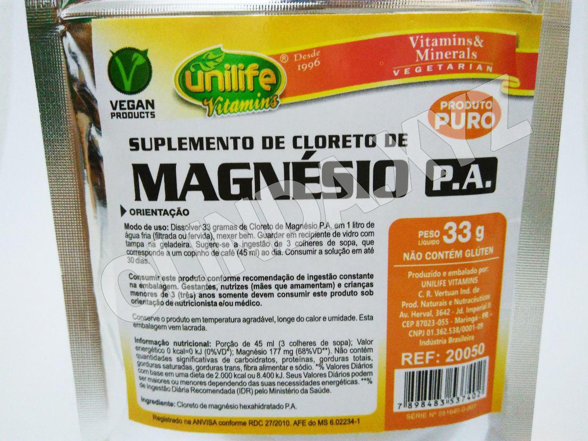 b2d5823bf cloreto de magnésio p.a. em pó puro unilife 33g recife. Carregando zoom.
