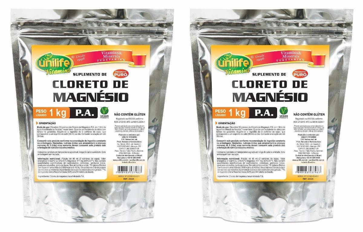 9ffc0735f cloreto de magnésio pa pó unilife 2 kilos - puro promoção. Carregando zoom.