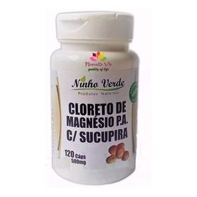 Cloreto De Magnésio Pa+ Sucupira  500mg 120 Cáps + 1pomada