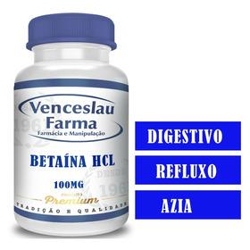 Cloridrato De Betaina (hcl) 100mg Digestivo C/120(o Melhor)