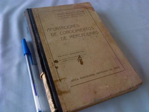 clorindo miranda apuntaciones conocimiento mercaderias. 1912
