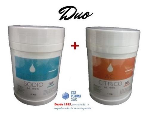 clorito de sodio + ac.citrico