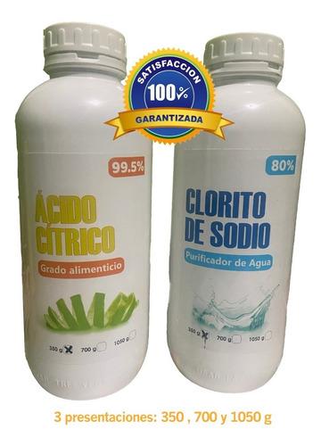 clorito de sodio acido citrico dioxido de cloro