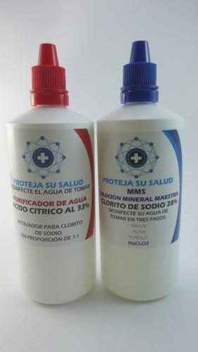 clorito de sodio + activador mms de 120 ml solución mineral