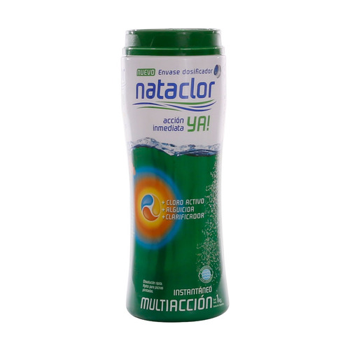 cloro instantáneo multiacción dicloro ya de 1 kilo nataclor