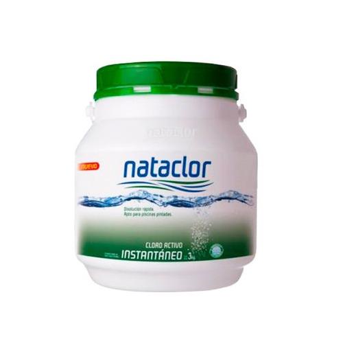 cloro instantaneo polvo 3 kg tapa verde shock nataclor