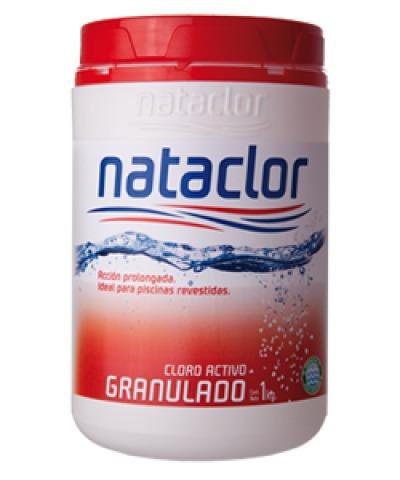 cloro lento polvo granulado 1 kg roja tecnico nataclor