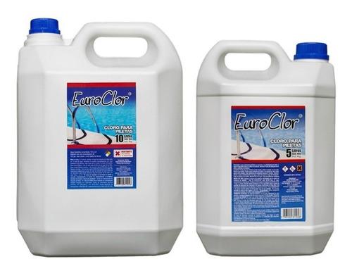 cloro liquido puro para pileta x 10 lts. aprobado anmat