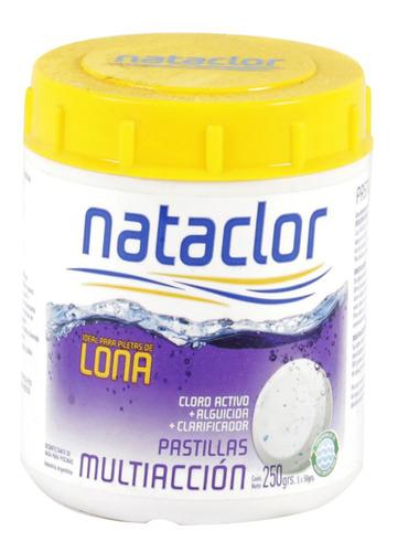 cloro piletas lona + alguicida con boya nataclor