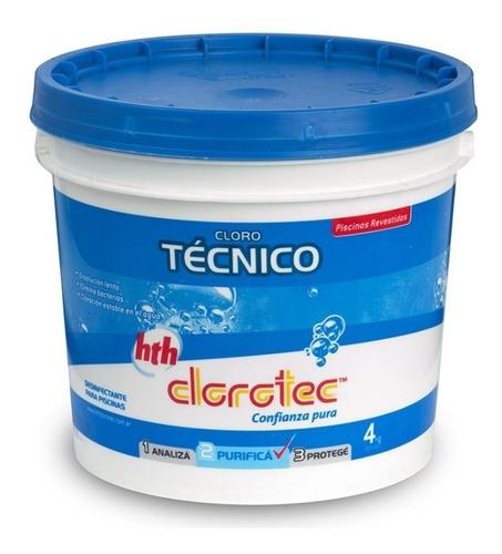 cloro tecnico granulado disolucion lenta clorotec 4kg rex
