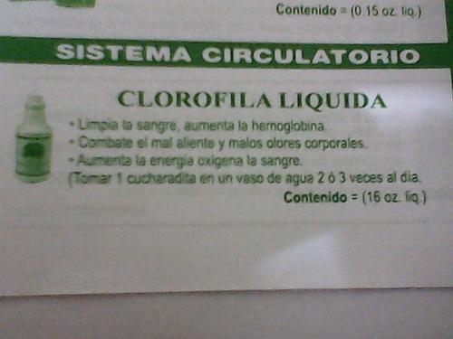 clorofila liquida limpia la sangre y combate el infarto