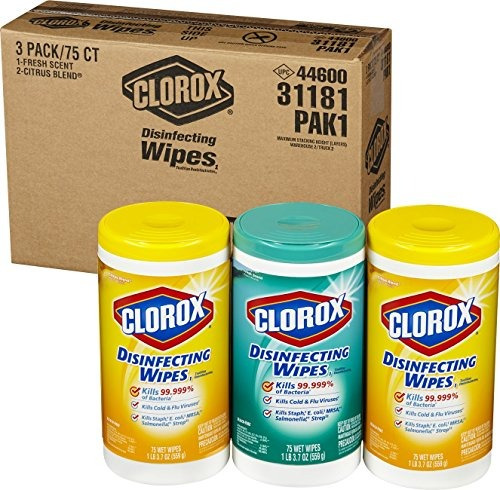 clorox toallitas desinfectantes value pack, aroma fresco y