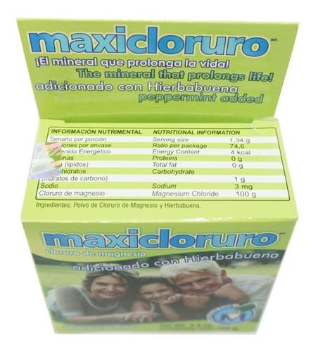 cloruro de magnesio 100gr (5 piezas) maxicloruro
