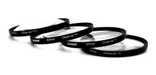 close up lentes macro 67mm 4 piezas +1 +2 +4 +10 canon nikon