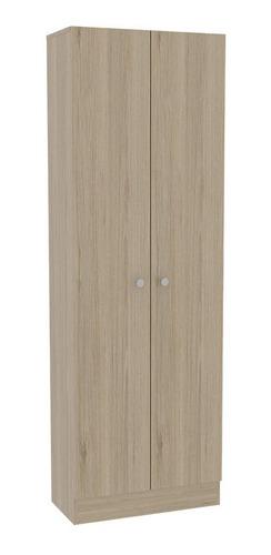 closet 2 puertas home rovere/blanco