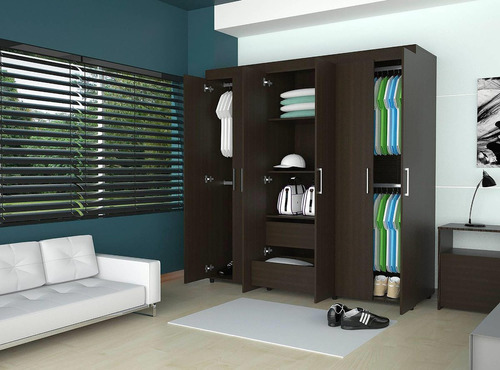 closet 6 puertas/2 cajones 181x180cm (envío gratis)