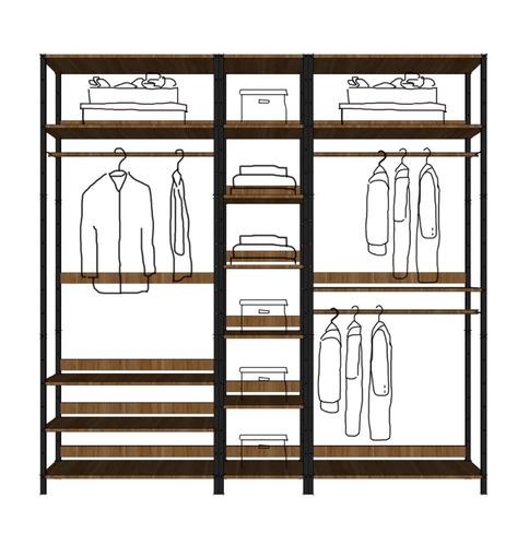 closet armable armario organizador hogar minimalista rama