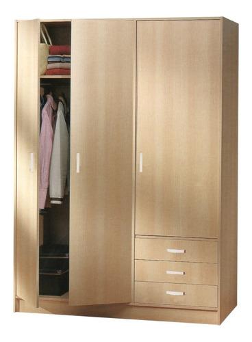 closet armario 3 puertas 3 gavetas 5 repisas