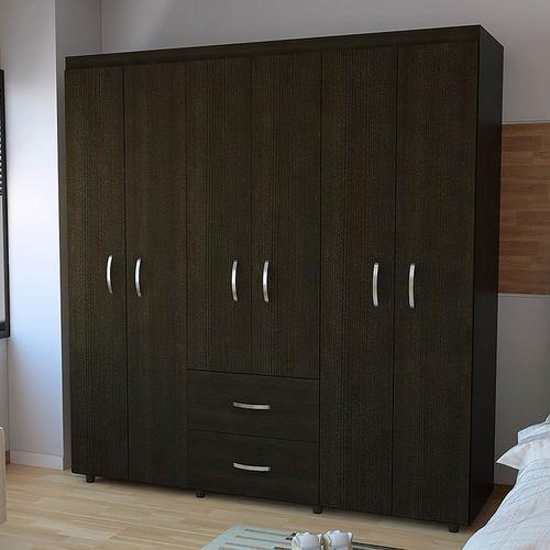 closet bariloche 6 puertas 2 cajones 180x170 180 cm x 170 cm