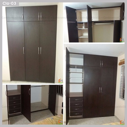 closet empotrado moderno vestier vestidor - fabricación