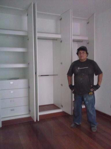 Muebles Separadores : Closet en melamina con buenos acabados s