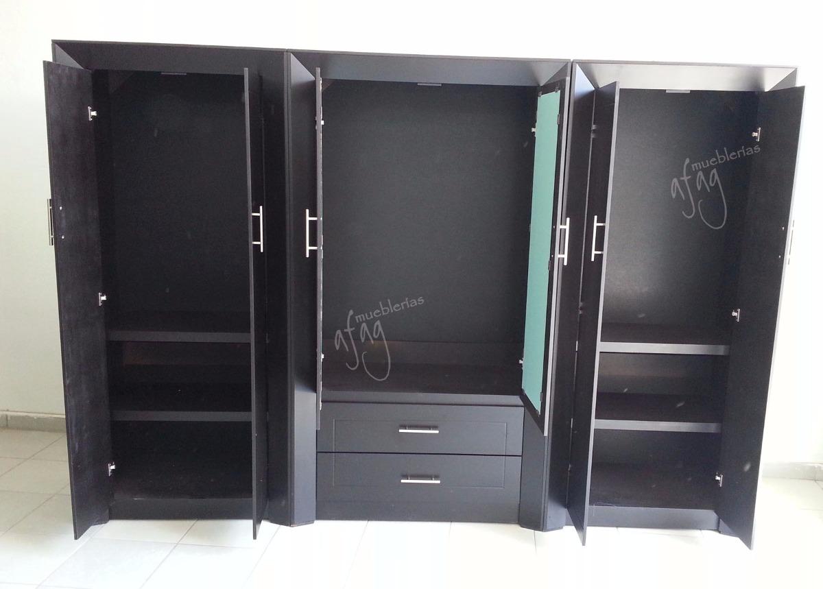 Closet grande c espejo cajonera choco armario ropero for Cuanto vale un espejo grande