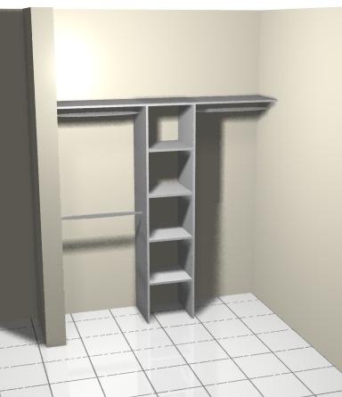 closet interior  melamina blancq