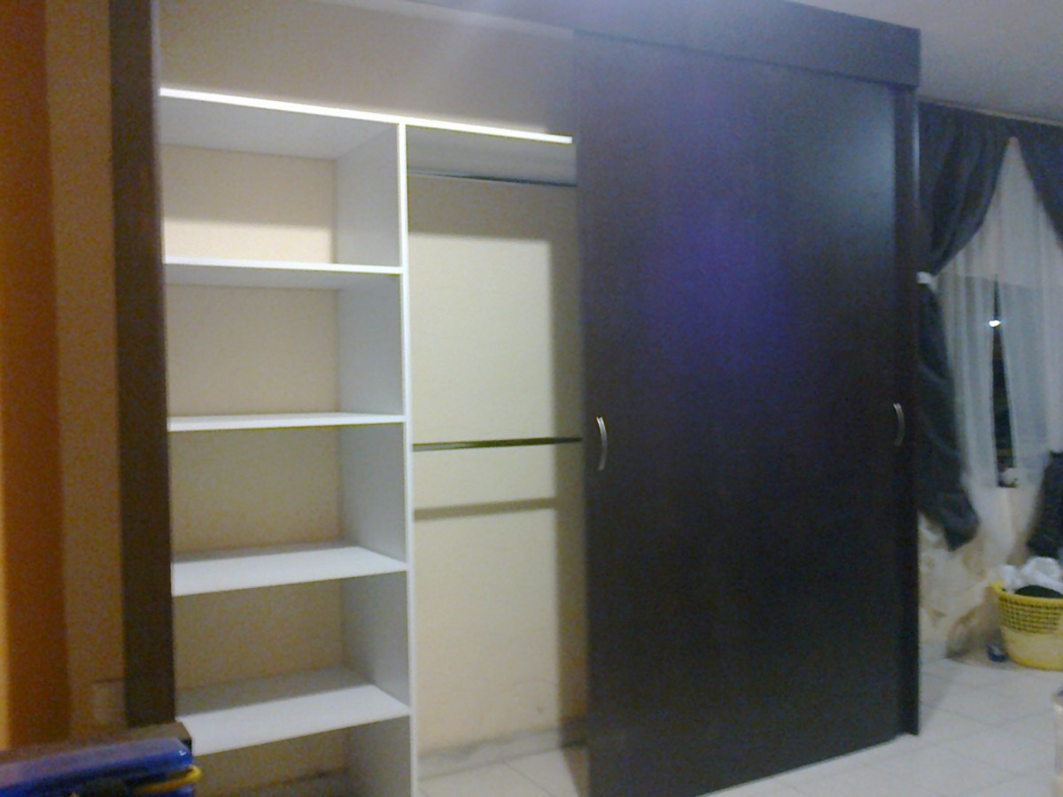 Closet melamina c puertas corredizas 5 500 pachuca for Modelos de zapateras de melamina