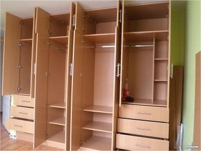 Closet moderno gavetero armario biblioteca en for Closet en melamina modernos