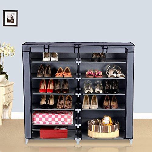 closet organizador para zapatos portátil cubierta de tela
