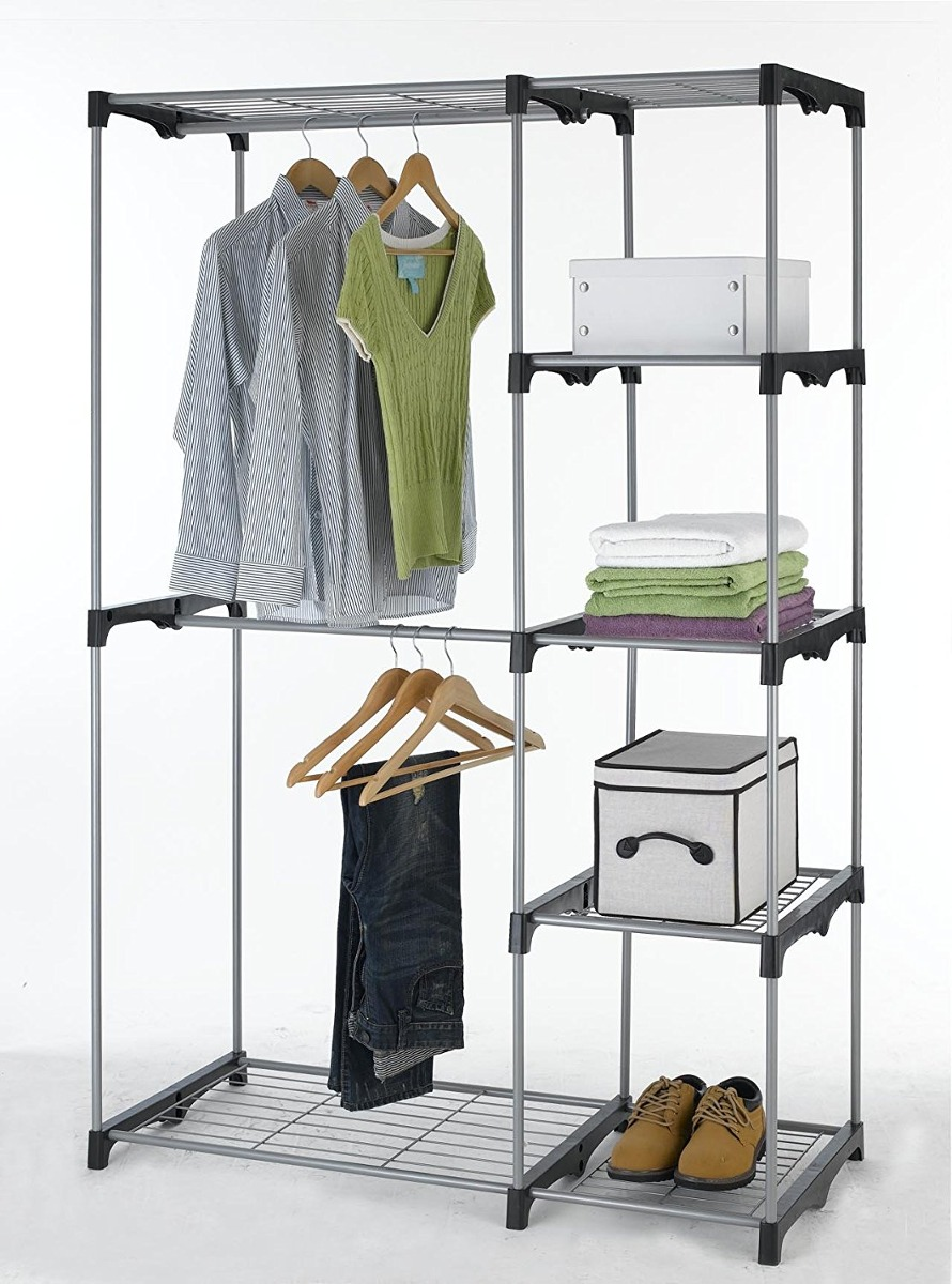 Closet Organizer Storage Rack Portable Clothes Hanger Home ...