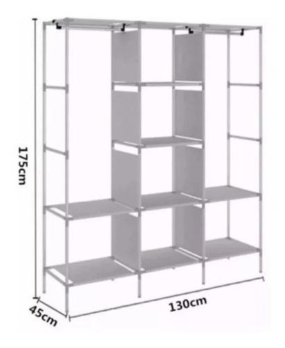closet ropero armable organizador ropa 175x130x45 35231 goc