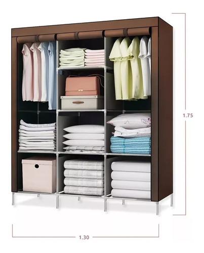 closet ropero armable organizador ropa 175x130x45 regiones