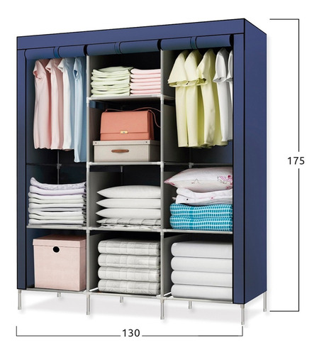 closet ropero armable transportable 175x130x45
