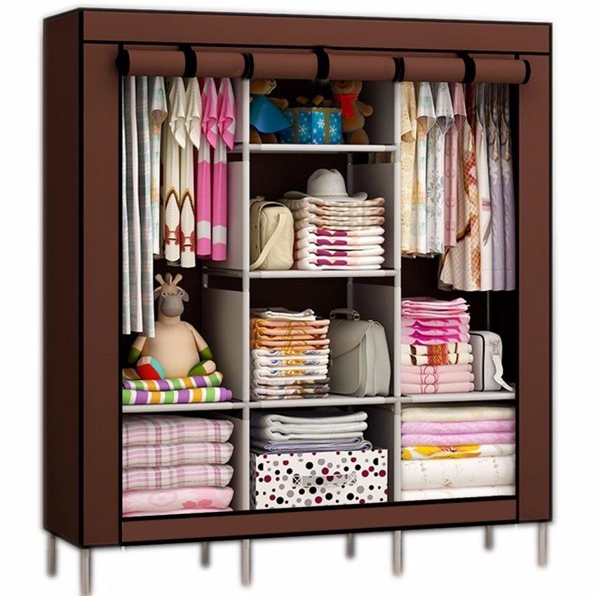 Online Closets: Closet Ropero Organizador Armable Grande 170x45x130cms