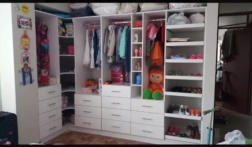 closet, roperos, walk in closet de melamina a medida. cotiza