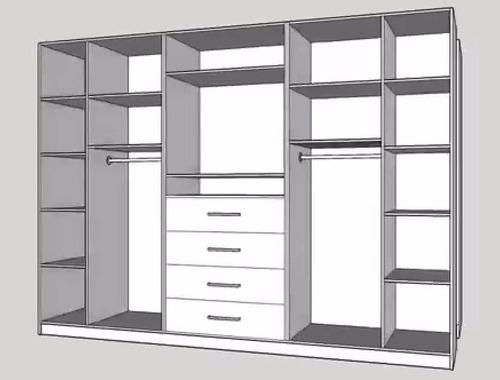 Closet vestier se elaboran a medida bs 0 17 en mercado for Closet a medida