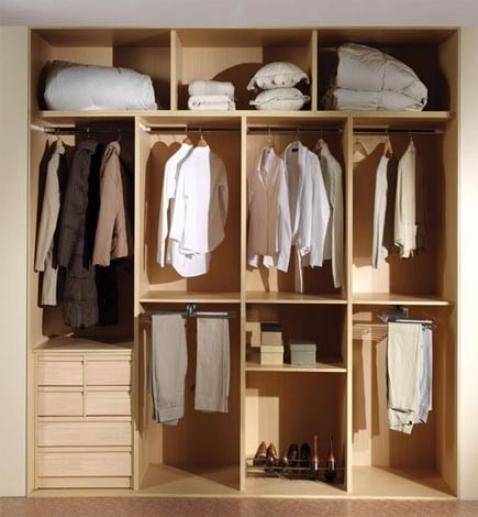 Closets de melamina empotrados walk in closets melamina for Armado de closet de melamina
