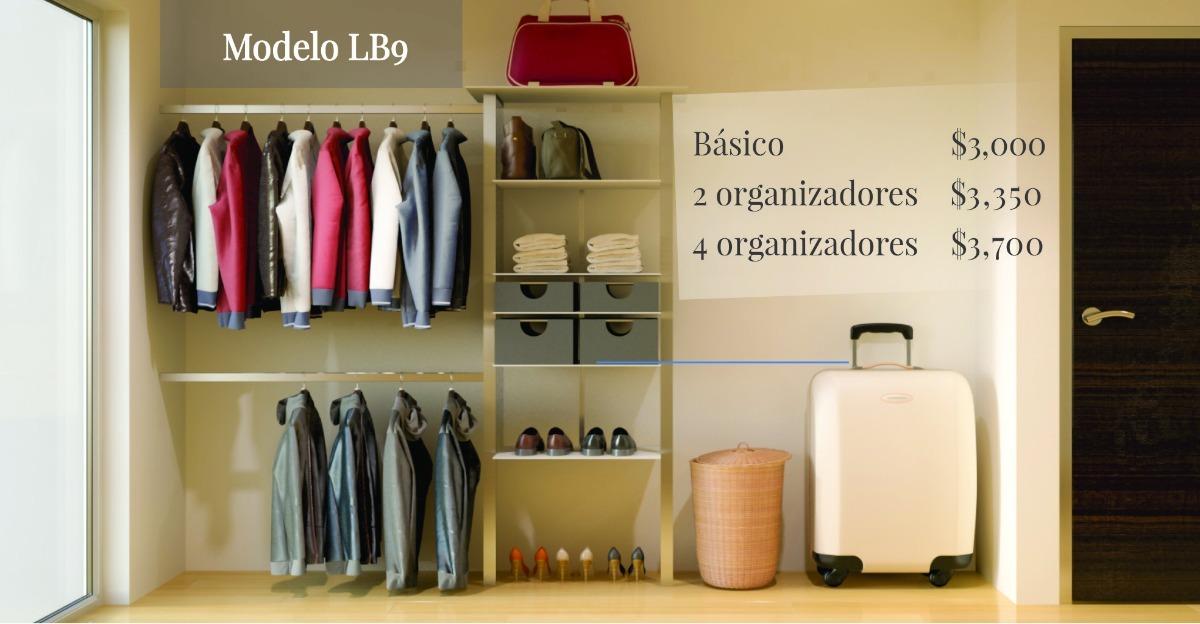 Closets modernos modulares y ajustables 3 en for Cuanto cuesta un closet de madera en mexico