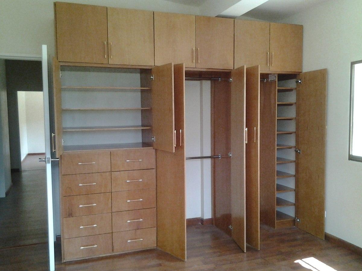 Closets vestier econ micos carpinteria modernos closet for Closet en madera para habitaciones